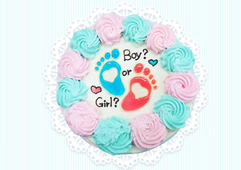 ジェンダーリビールケーキの写真